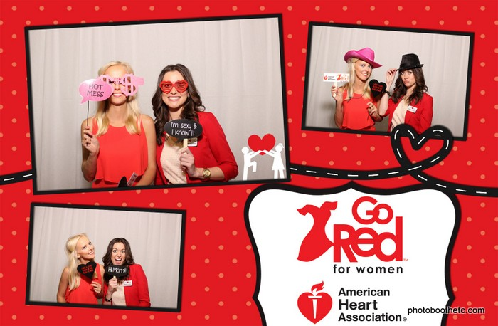 Heart Healthy Women in a Photo Booth