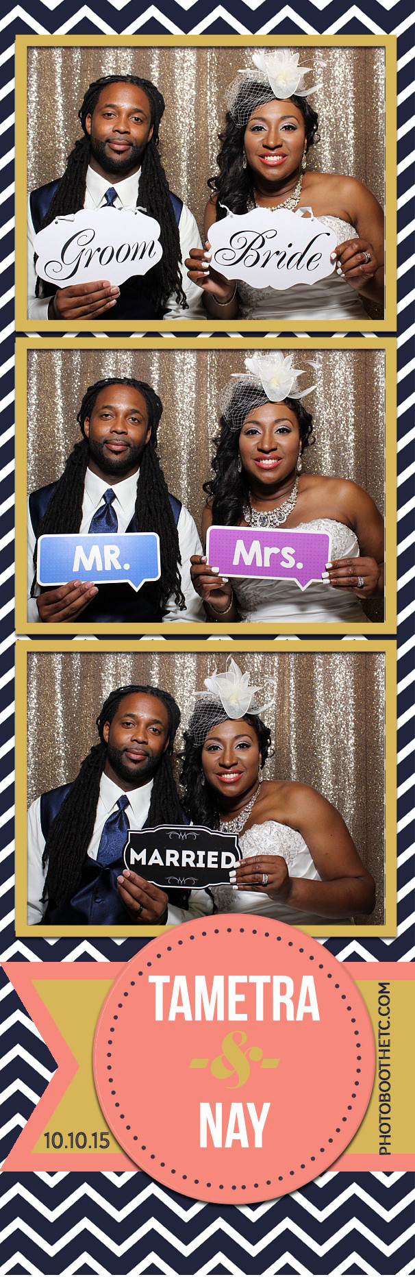Tametra & Nay's Wedding Reception Photo Booth